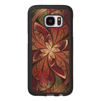 La Chanteuse Rouge Red Abstract Pattern Wood Samsung Galaxy S7 Case