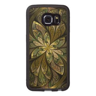 La Chanteuse Vert Fundas De Madera Para Samsung S6 Edge