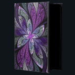 "La Chanteuse Violett iPad Air Case<br><div class=""desc"">Copyright © 2014,  Susan Wallace. Faux stained glass leaves in shades of bright purple,  silver,  periwinkle and violet frame a central flower of vibrant purple in this intricate abstract piece.</div>"