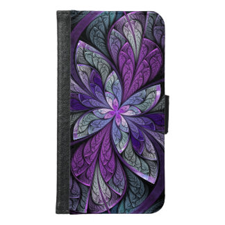 La Chanteuse Violett Purple Abstract Stained Glass Samsung Galaxy S6 Wallet Case