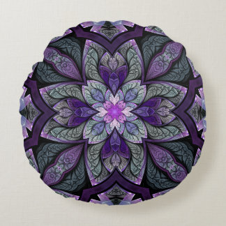 La Chanteuse Violett Round Throw Pillow
