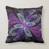 La Chanteuse Violett Square Throw Pillow
