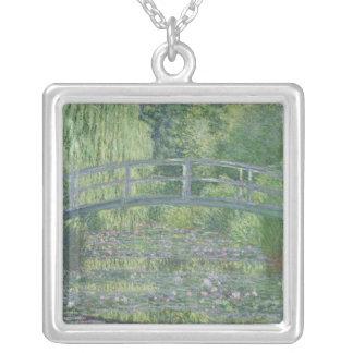 La charca de Waterlily: Armonía verde, 1899 Colgante Cuadrado