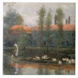 La charca de William Morris trabaja en la abadía d Tejas