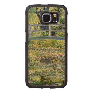 La charca del Agua-Lirio por la bella arte de Funda De Madera Para Samsung Galaxy S6