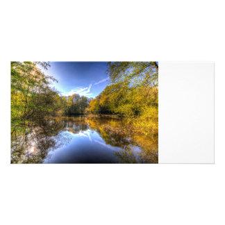 La charca del espejo plantilla para tarjeta de foto