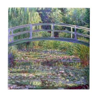 La charca del lirio de agua de Claude Monet Azulejo Cuadrado Pequeño