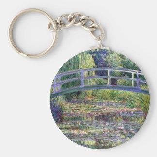 La charca del lirio de agua de Claude Monet Llaveros