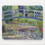 La charca del lirio de agua de Claude Monet Mousep Alfombrillas De Ratón