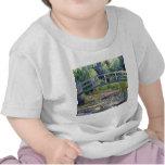 La charca del lirio de agua de Claude Monet Camisetas