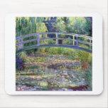 La charca del lirio de agua de Claude Monet Alfombrilla De Ratón