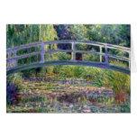 La charca del lirio de agua de Claude Monet Felicitación