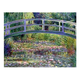 La charca del lirio de agua de Claude Monet Tarjeta Postal