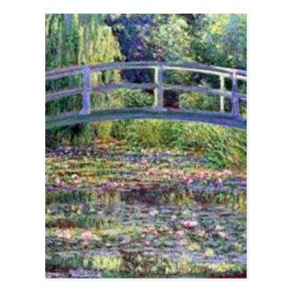 La charca del lirio de agua de Claude Monet Tarjetas Postales