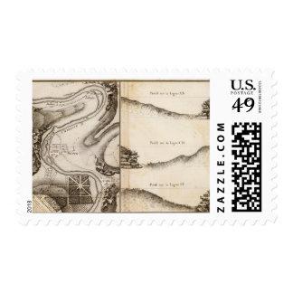 La Charente Atlas Map Postage Stamp