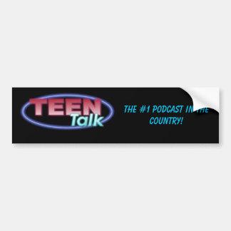 ¡la charla adolescente, el #1 hace un podcast en e pegatina de parachoque
