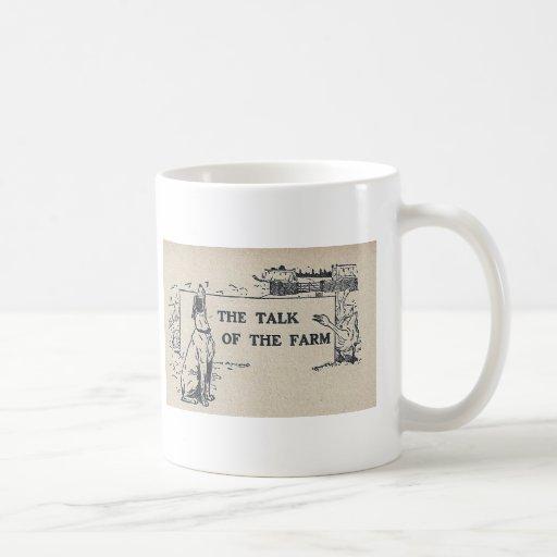 La charla de la granja taza de café