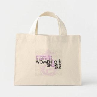 La charla de las mujeres se divierte el bolso bolsa tela pequeña