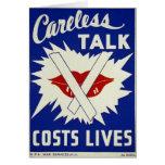 La charla descuidada cuesta las vidas (la tarjeta