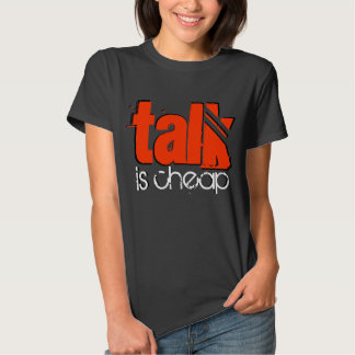 La charla es camisa barata