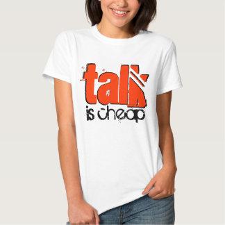 La charla es camiseta barata playera