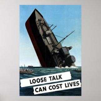 La charla floja puede costar vidas póster