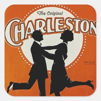 La Charleston original Pegatinas Cuadradas Personalizadas