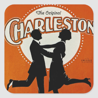 La Charleston original Pegatina Cuadrada