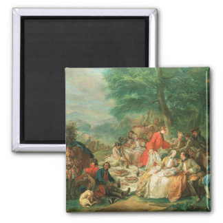 La Chasse, 18th century 2 Inch Square Magnet