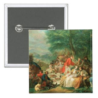 La Chasse, 18th century 2 Inch Square Button