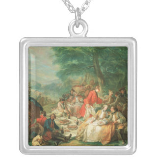 La Chasse, 18th century Silver Plated Necklace