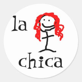 la chica Spanish Sticker