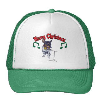 La chihuahua canta Felices Navidad Gorras De Camionero