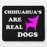 La chihuahua es perros reales alfombrillas de ratón