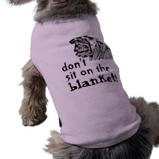 ¡la chihuahua, no hace, manta! , siéntese en ropa de perro