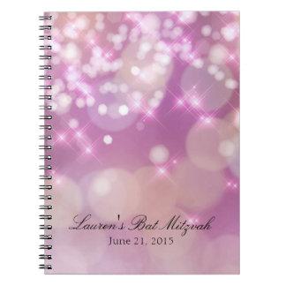 La chispa de Mitzvah del palo enciende rosa Cuaderno