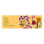 La chispa florece la tarjeta plantilla de tarjeta personal