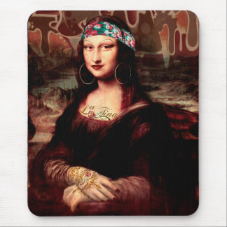 La Chola Mona Lisa Mouse Pad