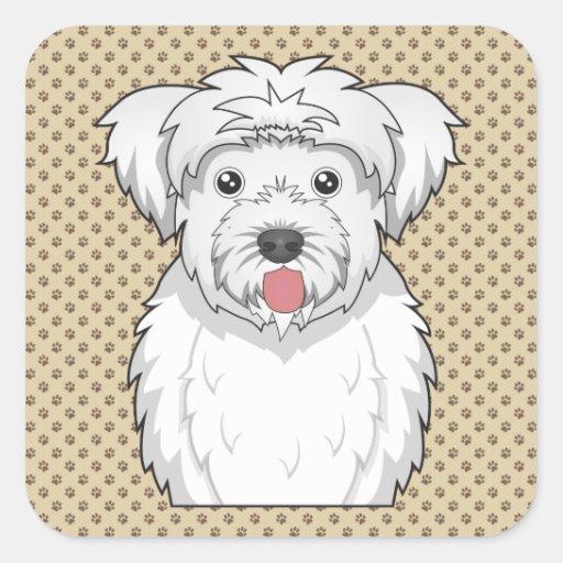 La-Chon Cartoon Square Sticker