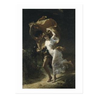 La choza 1880 de Pedro-Auguste de la tormenta Postal
