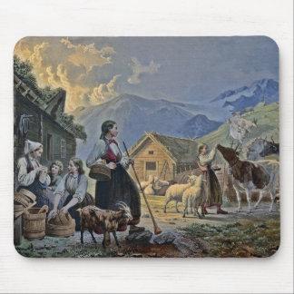 La choza del Shepherdess en la montaña Tapete De Ratones