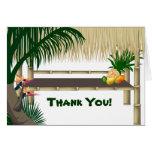 La choza tropical de Tiki del fiesta le agradece o