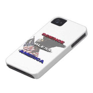 La ciencia bendice la bandera americana de América Carcasa Para iPhone 4 De Case-Mate
