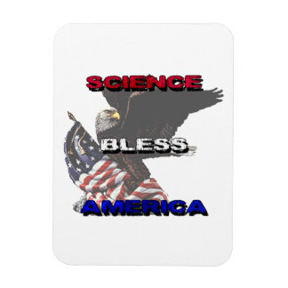 La ciencia bendice la bandera americana de América Imán Foto Rectangular