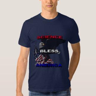 La ciencia bendice la bandera americana de América Polera