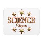 La ciencia brilla imanes de vinilo