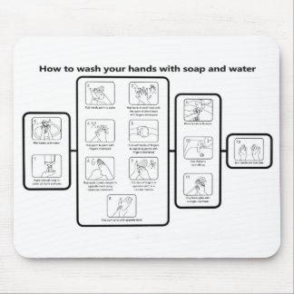 La ciencia de manos limpias alfombrilla de ratones