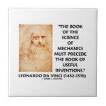La ciencia del libro de mecánicos debe preceder in teja