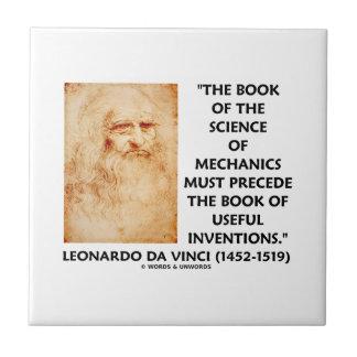 La ciencia del libro de mecánicos debe preceder in azulejo cuadrado pequeño