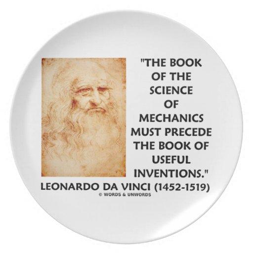 La ciencia del libro de mecánicos debe preceder in platos de comidas